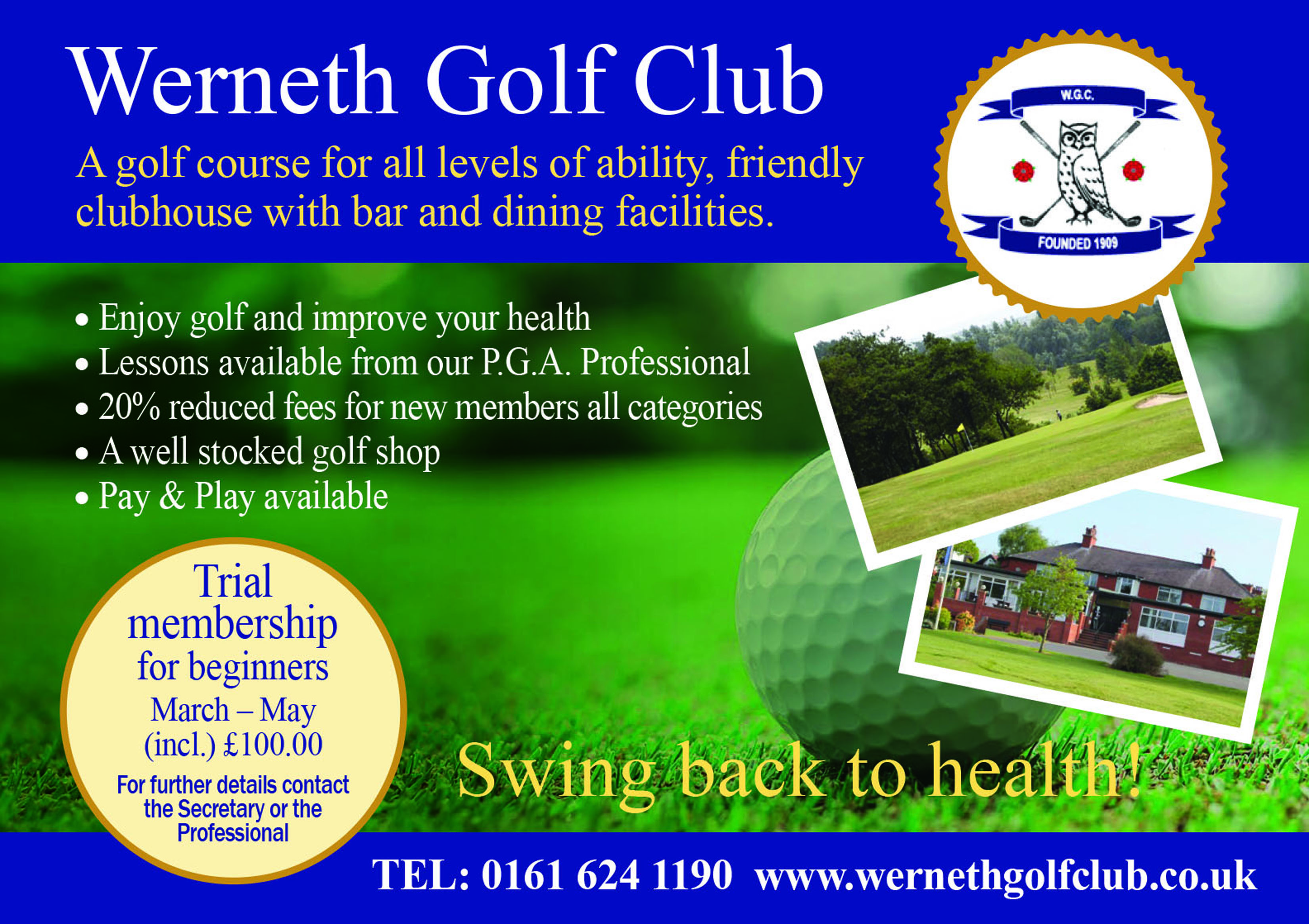 Werneth Golf Club Advert